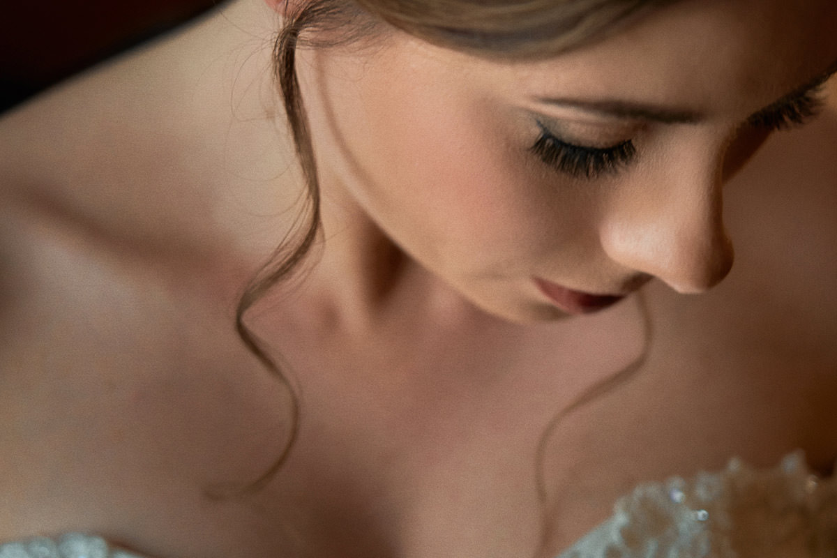 Intimate Bridal Portrait Quiet Moment during Wedding Photography