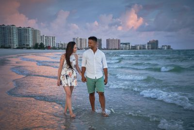 Romantic Beach Couple Pictures – Victoria and James