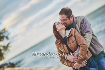 Alexandra and Tim's Sand Key Park Engagement